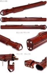 Тубус QK-S Grand Cavalry 1x1 коричневый, натуральная кожа
